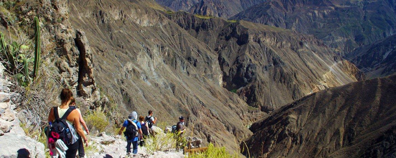caminata al Colca desde Arequipa